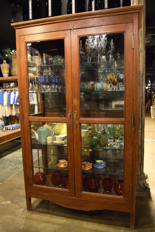 WOODEN CABINET - GLASS FITTED NOV14 27